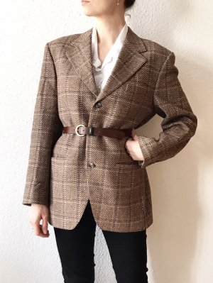 Vintage Blazer lungo marrone chiaro-marrone