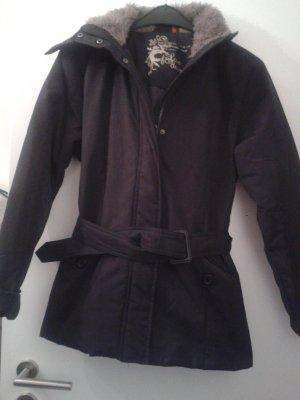 Veste d'extérieur noir coton