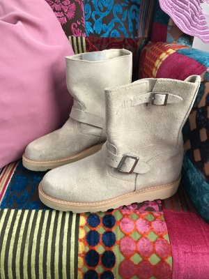 Replay Botte beige clair daim