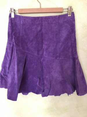 Hallhuber trend Leather Skirt lilac