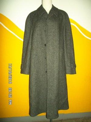 Abrigo de lana color plata-negro Lana