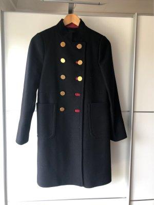 Zara Woman Wollen jas zwart-rood