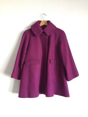 Toller Wollmantel von COS in pink/violett Melange