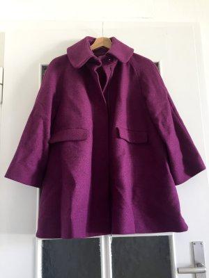 COS Abrigo de lana violeta-violeta amarronado Lana