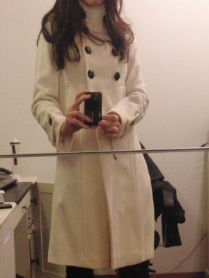 Heine Cappotto in lana bianco sporco-bianco Lana vergine