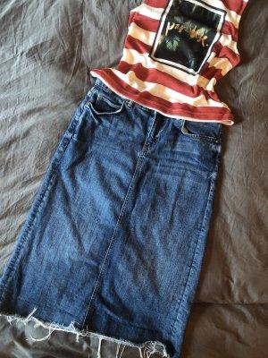 Toller Zara Women Premium Denim Collection Rock Midi Stiftrock Jeansrock Jeans High Waist M