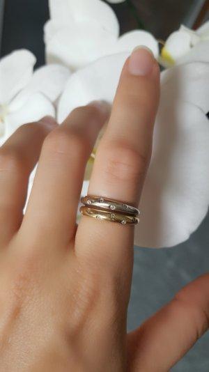 Tolles 2er Set Vintage Ringe aus 585er Gold mit Steinen 55 56 57
