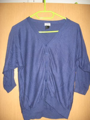 Tolles 3/4 Arm Shirt/Strickjacke in blau