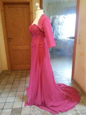 Tolles Abendkleid Pink mit bestickem Bolero
