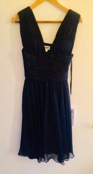 Tolles Abendkleid - schwarzes Chiffonkleid, knielang, Gr.36/38 M