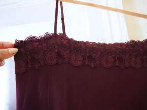 Zero Lace Top petrol-purple viscose