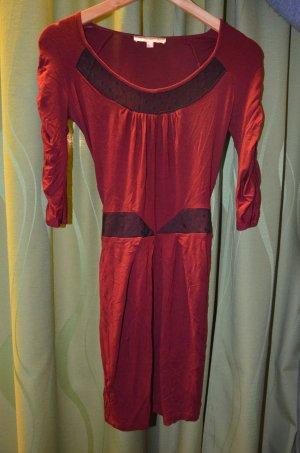 Asos Petite Vestido rojo oscuro-negro