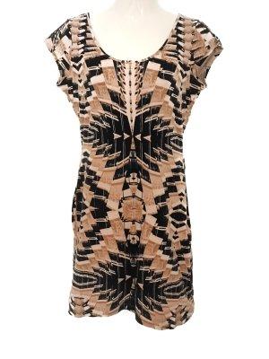 Tolles Azteken Ethno Muster Jersey Kleid Sommer Rückenausschnitt H&M