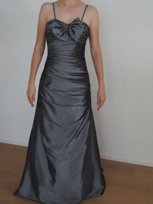 Ball Dress grey-silver-colored synthetic fibre