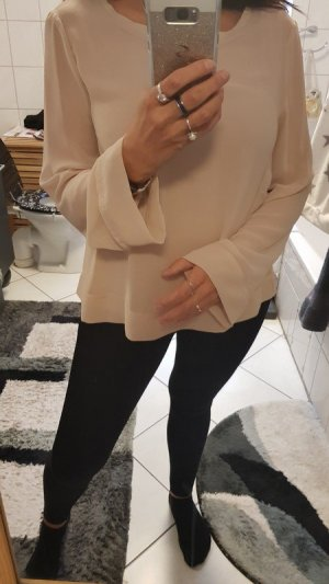 Zara Slip-over blouse nude