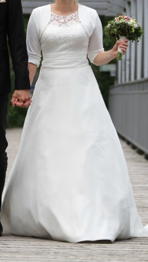 Wedding Dress white-oatmeal mixture fibre