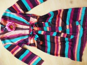 H&M Vestido cruzado multicolor Fibra sintética