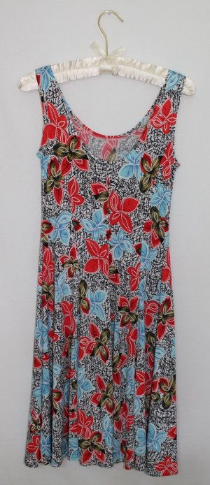 Robe épaules nues multicolore polyester