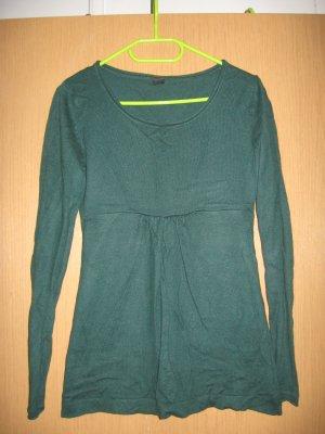 Tolles dunkelgrünes Babydoll-Langarmshirt