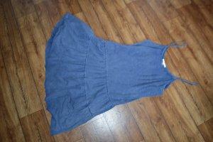 Tolles Esprit Volant-Kleidchen Blau Gr. L/42