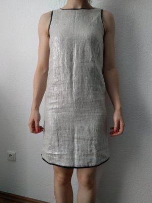 tolles Etuikleid Massimo Mutti Leder Leinen metallisch Minikleid