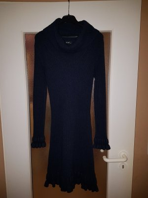 extra me Knitted Dress dark blue