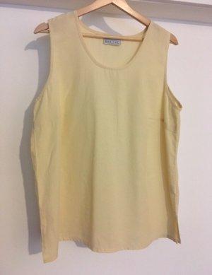 Camisa holgada amarillo pálido
