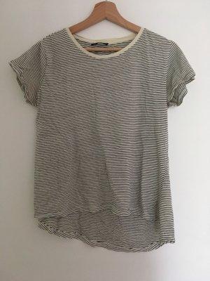 Zara Camiseta negro-crema