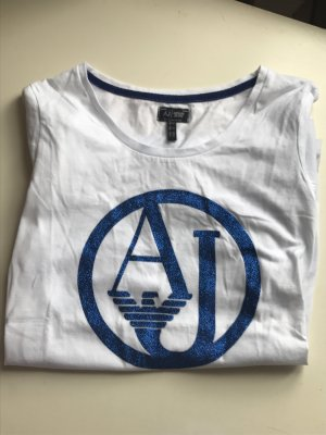 Armani Jeans T-shirt bianco-blu