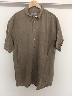 Camicia a maniche corte marrone-grigio