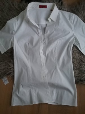 Hugo Boss Chemise à manches courtes blanc coton