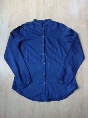 Zara Long Sleeve Shirt dark blue cotton