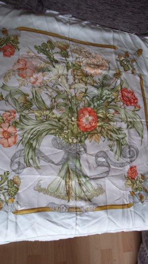 """Tolles Hermes Seidentuch Schultertuch Tuch Blumen Vintage Rar """" Regina """" Top"""