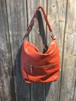 Hobos dark orange leather