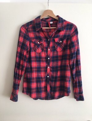 H&M Lumberjack Shirt brick red-dark blue