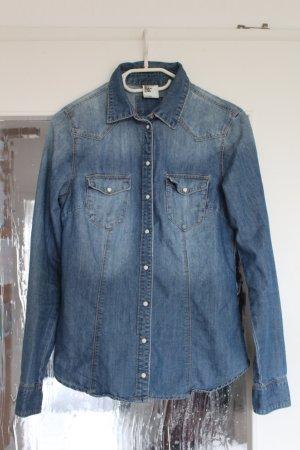 H&M Denim Shirt slate-gray