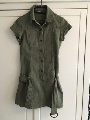 Pimkie Denim Dress khaki-green grey