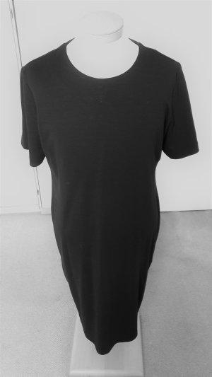 Robe fourreau noir tissu mixte
