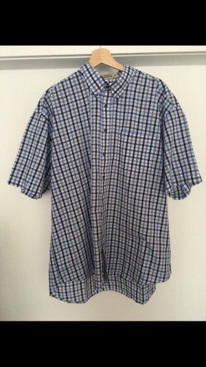 Camisa de manga corta blanco-azul celeste