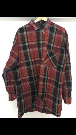 Camisa de leñador negro-carmín