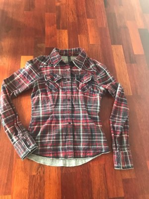 Only Lumberjack Shirt black-dark red