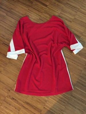 tolles Kimono Oberteil / Kleid in rot-weiß, Gr L