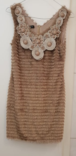 Fringed Dress light brown-beige
