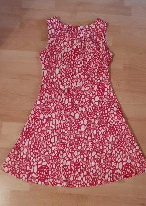 Tolles Kleid aus Baumwolle - rot weiß - Gr. 38 - M - wie neu!
