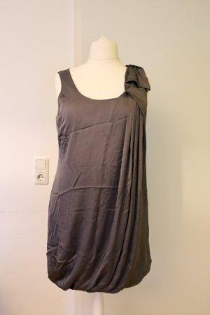Tolles Kleid, grau, elegant, Satin-Style, Größe 44/46