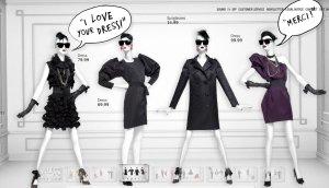 Tolles Kleid Lanvin for H&M (rechtes Kleid)