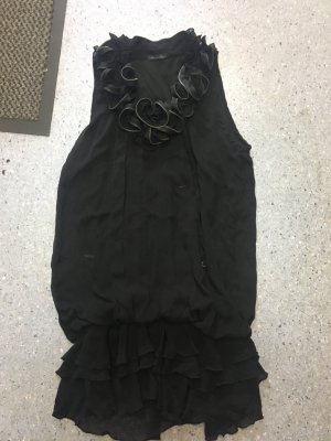Rich & Royal Robe chiffon noir
