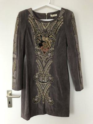 Robe à manches longues taupe-gris