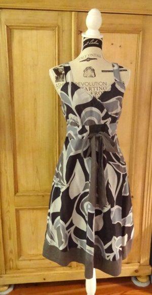 Esprit Robe brun foncé-gris tissu mixte