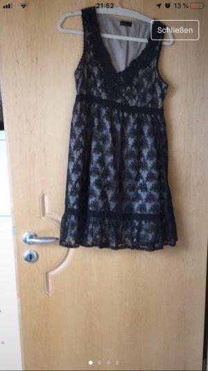 Vero Moda Babydoll-jurk zwart-beige